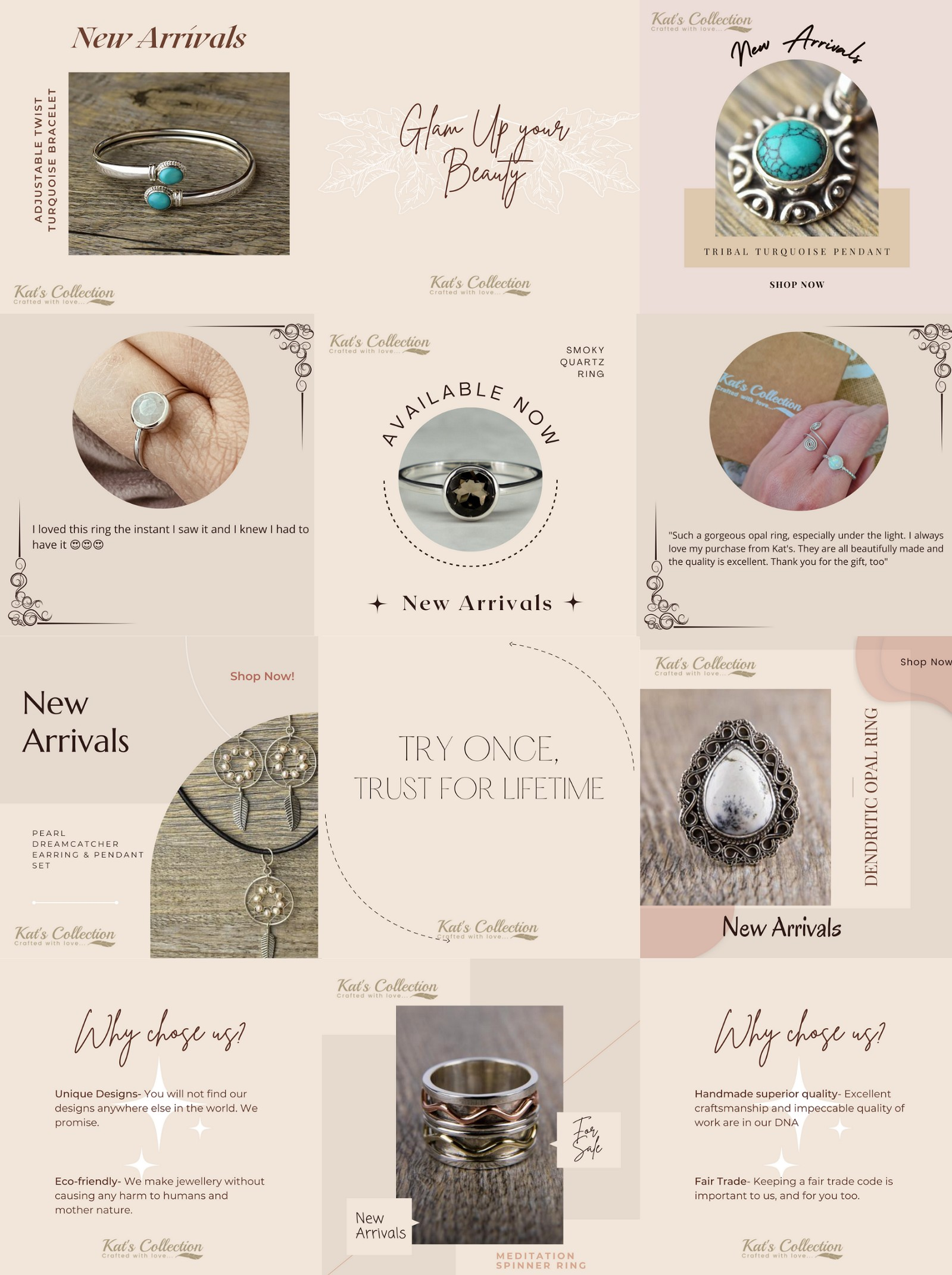 Soulful Bohemian Jewellery Kat's Collection
