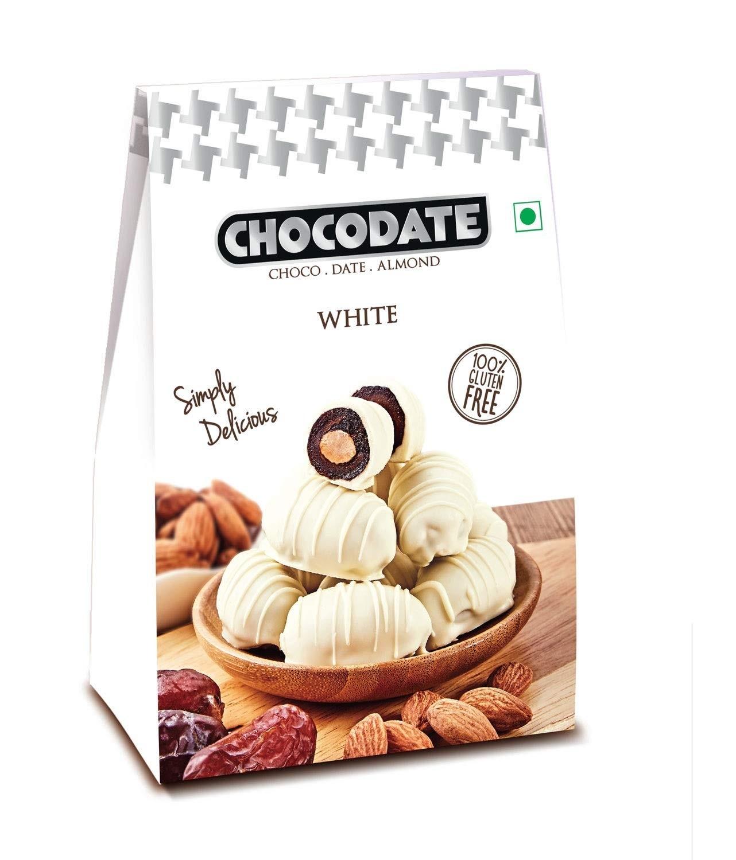 Chocodate White, 100gm Box (Pack of 2)