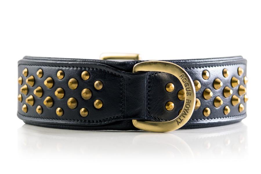 Black Brass Dog Collar