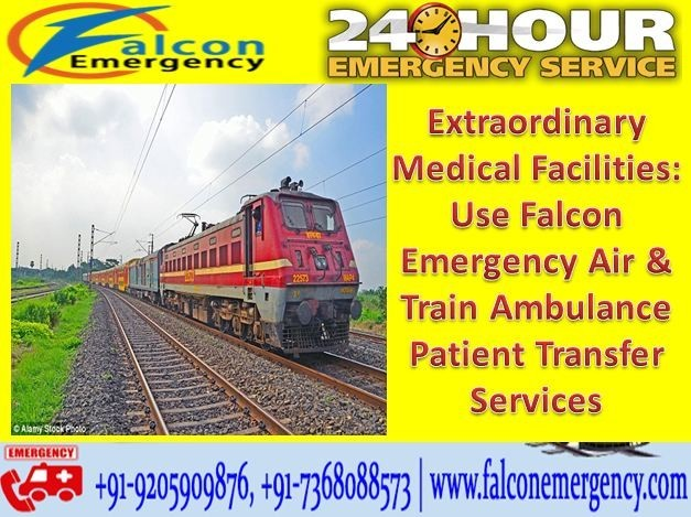 Falcon Train Ambulance Service in Patna with Expert Medical Team
