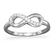SILVER CZ INFINITY RING!