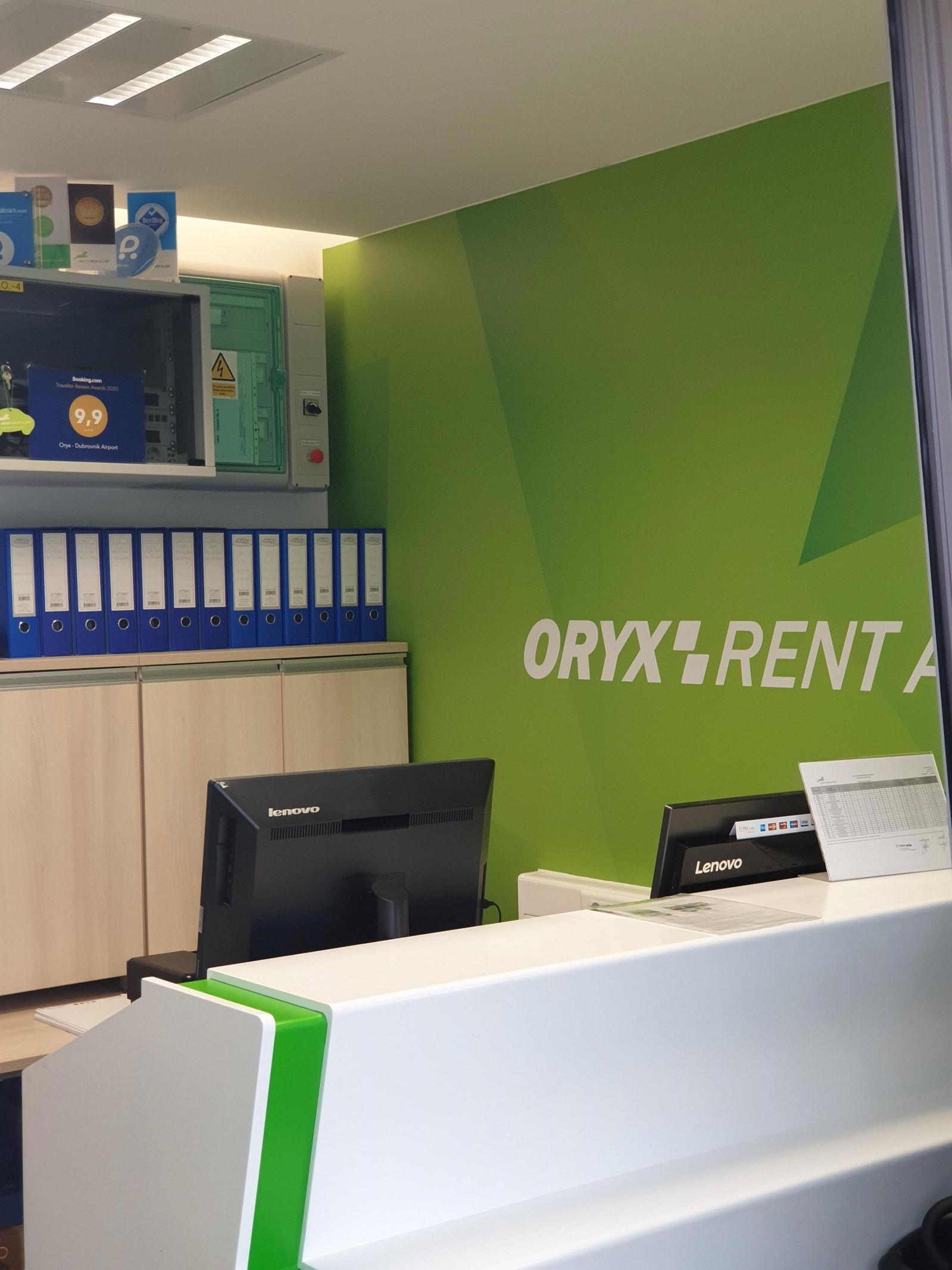 ORYX Rent a car Zracna luka Dubrovnik