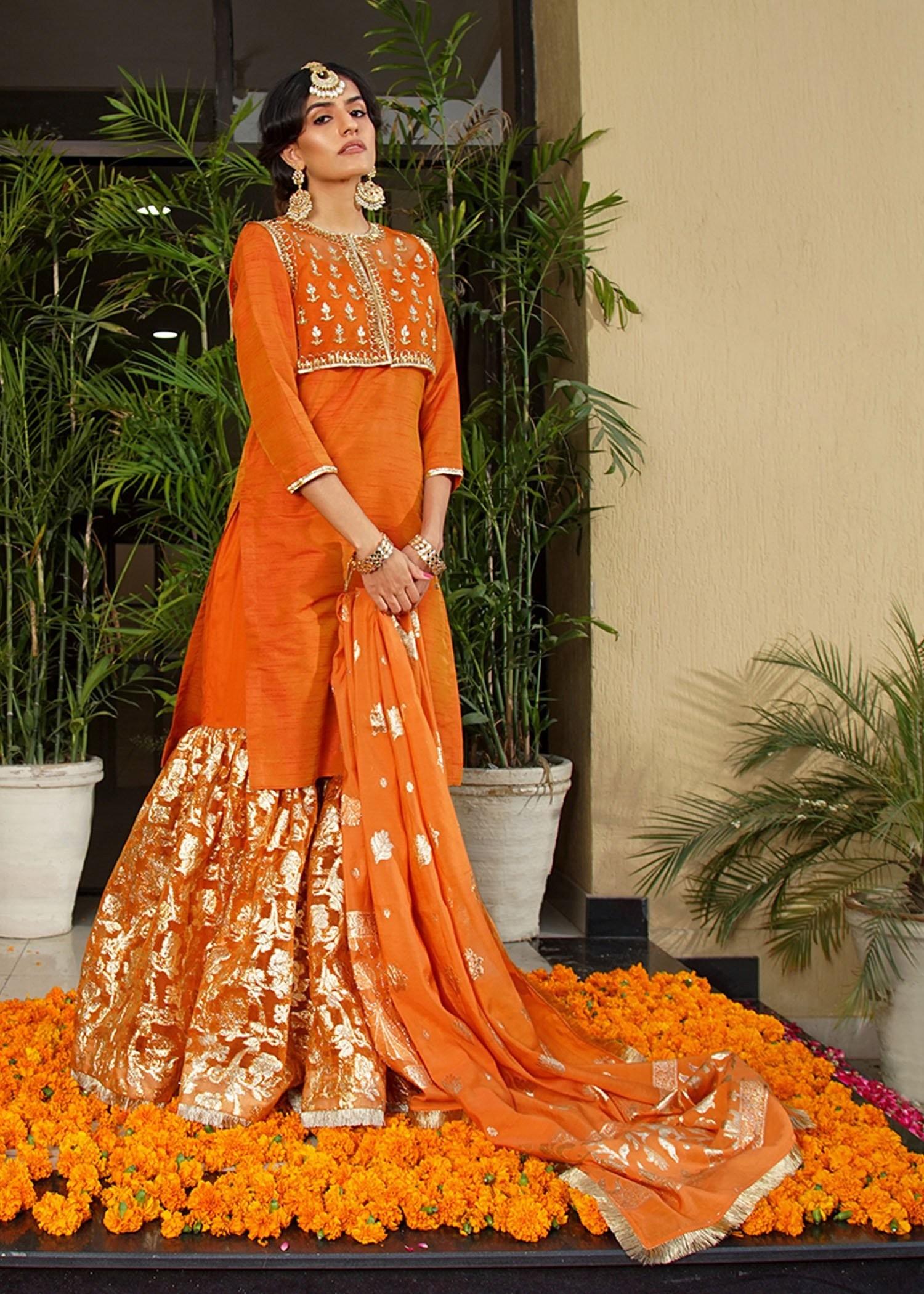 Meherma-mehndi dress