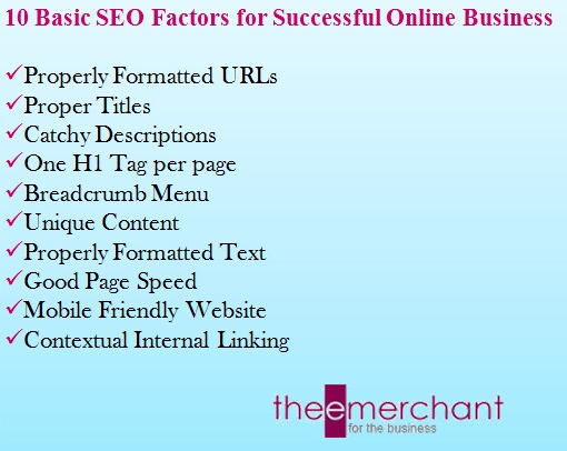 Basic SEO Factors for Successful Online Business
