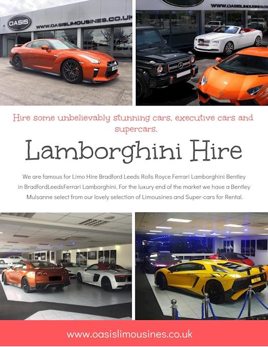 Lamborghini Hire | Call - 01274488618 | oasislimousines.co.uk