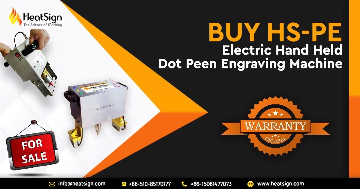 Hand Held Electric Portable Dot Peen Marking Machine at HeatSign