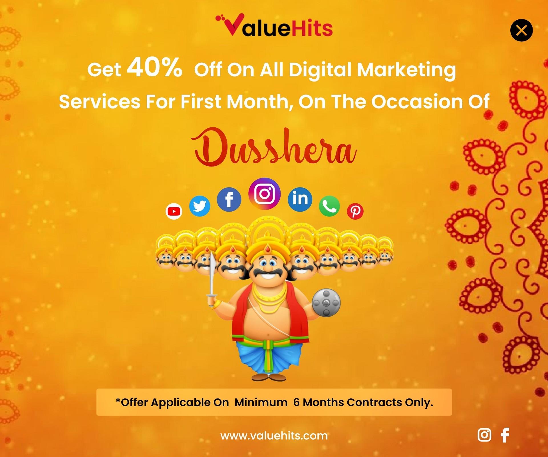Valuehits - Digital Marketing Dussehra Offer