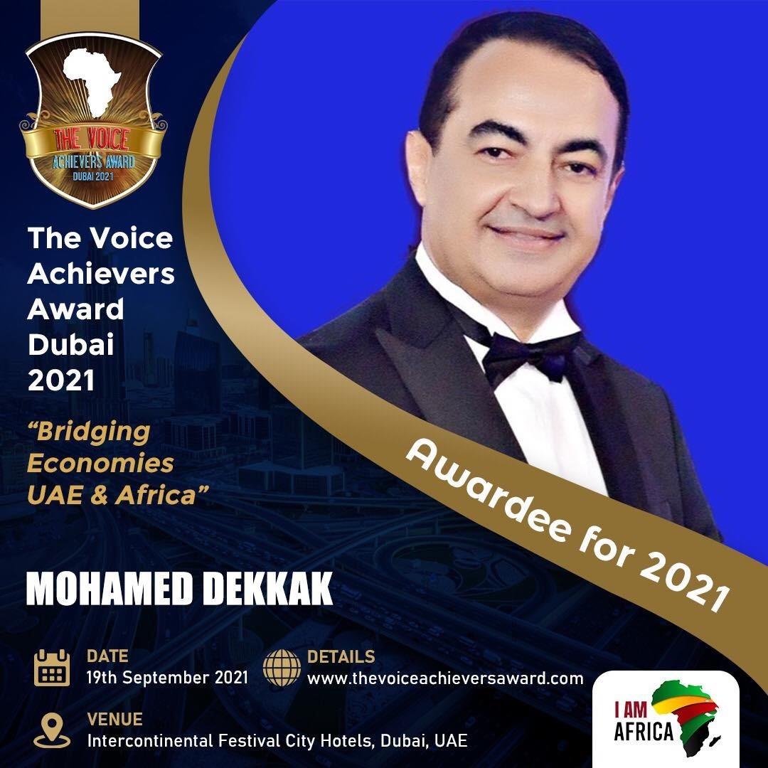 Mohamed Dekkak receives The Voice Achievers Award
