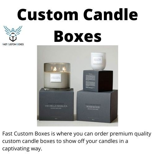 Custom Candle Boxes wholesale in USA