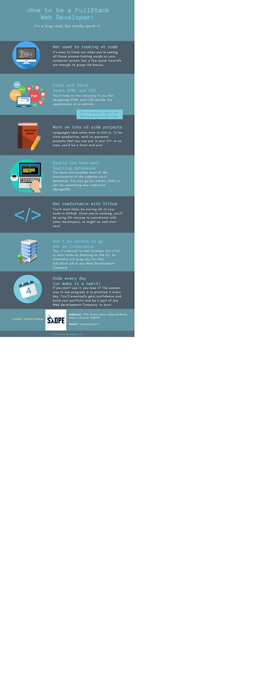 infographic: 7 Tips On How To Become A Full Stack Web Developer