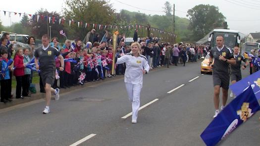 Saw part of the Olympic torch relay today