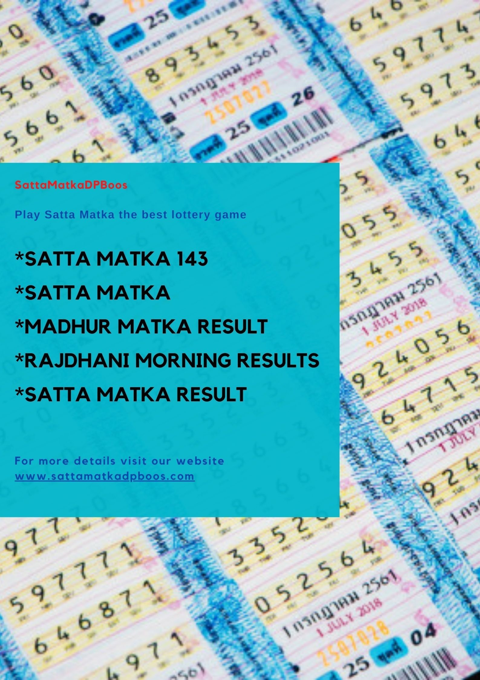 Play Satta Matka and win lots of cash