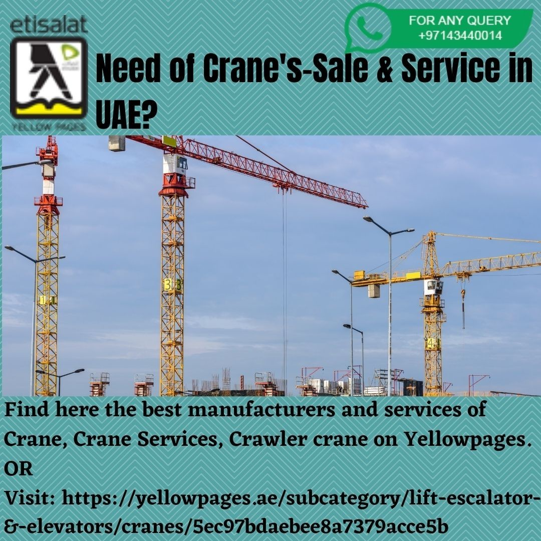 Need of Crane's-Sale & Service in UAE?