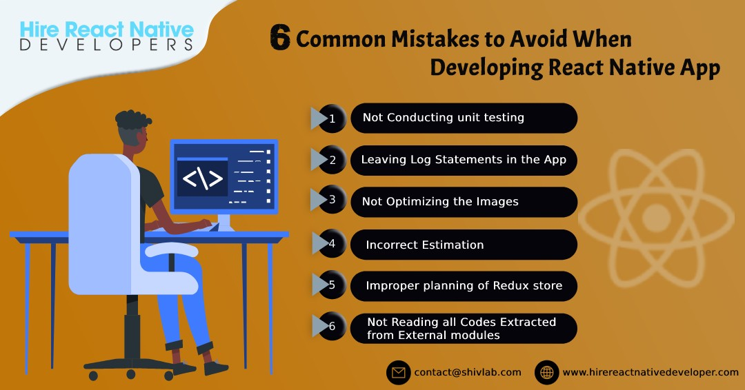 6 Common Mistakes to avoid when developing React native app