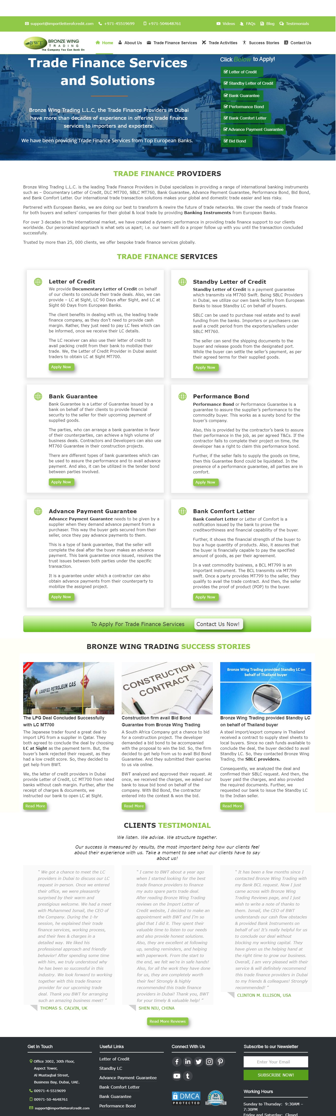 Contact the Best Trade Finance Providers in Dubai