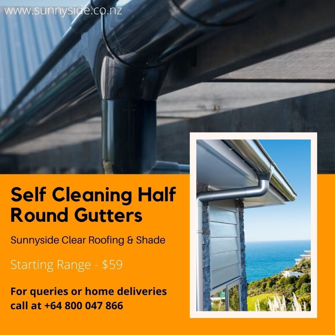 Self Cleaning Half Round Gutters | Sunnyside Roofing