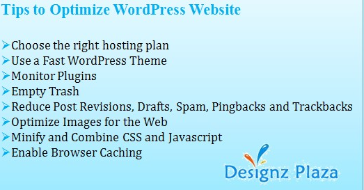 Tips - Wordpress Website Optimization