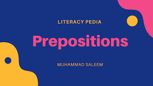 What is Prepositions?