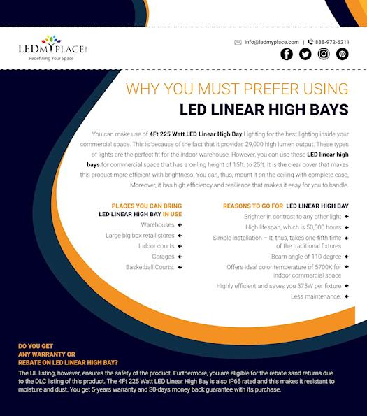 Why you must prefer using 4ft LED Linear High Bays?