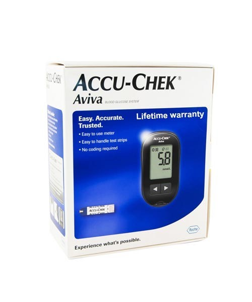 Accu Chek Aviva Blood Glucose Meter with 10 Strips Free | TabletShablet