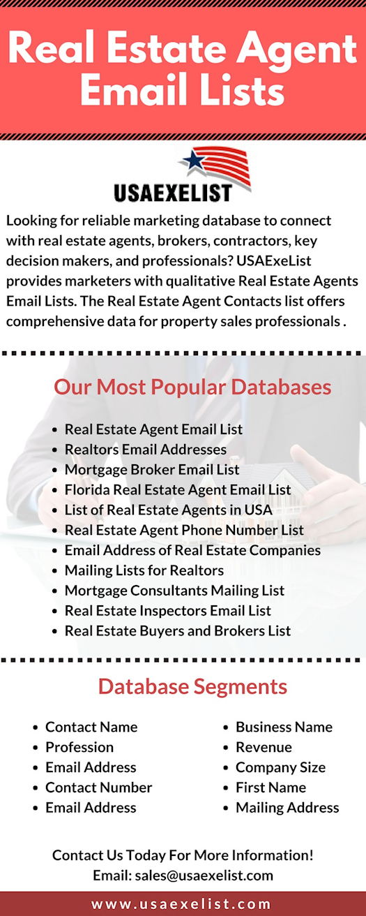 Reach Realtors with Real Estate Agent Email Lists