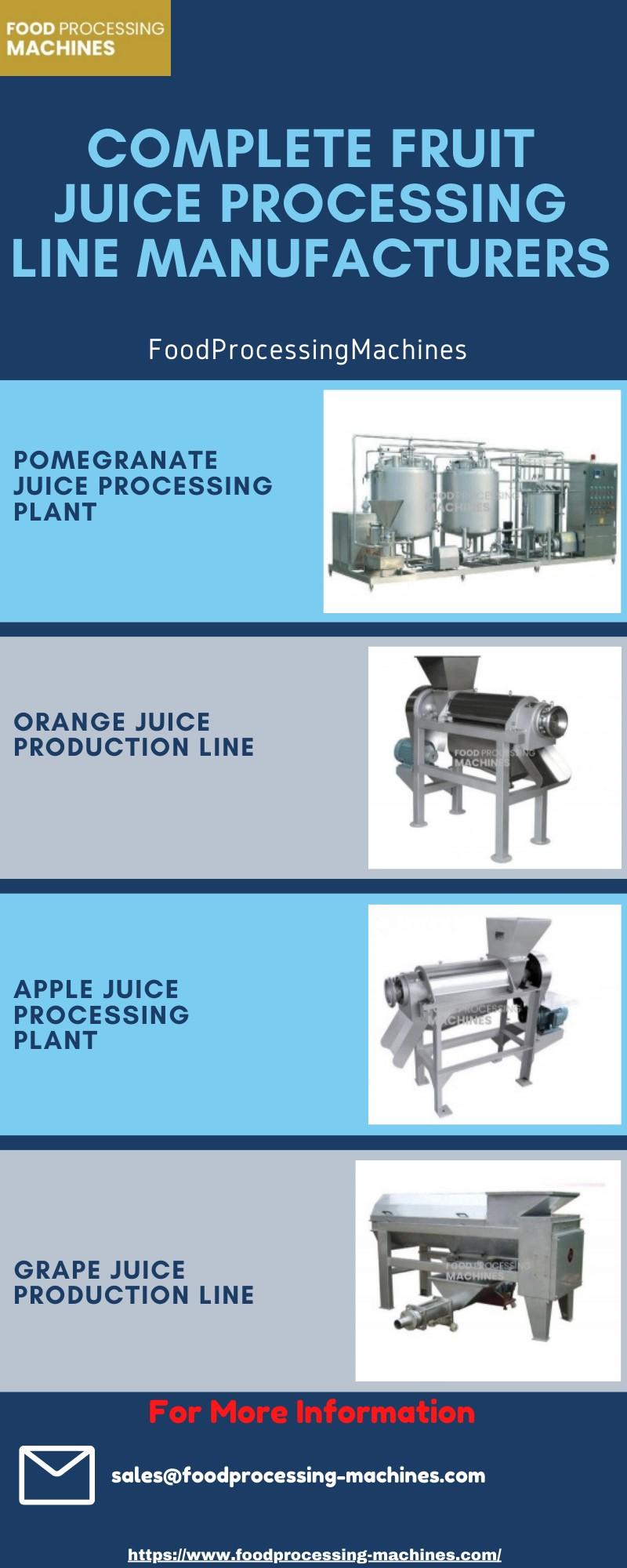 Complete Fruit Juice Processing Line Manufacturers