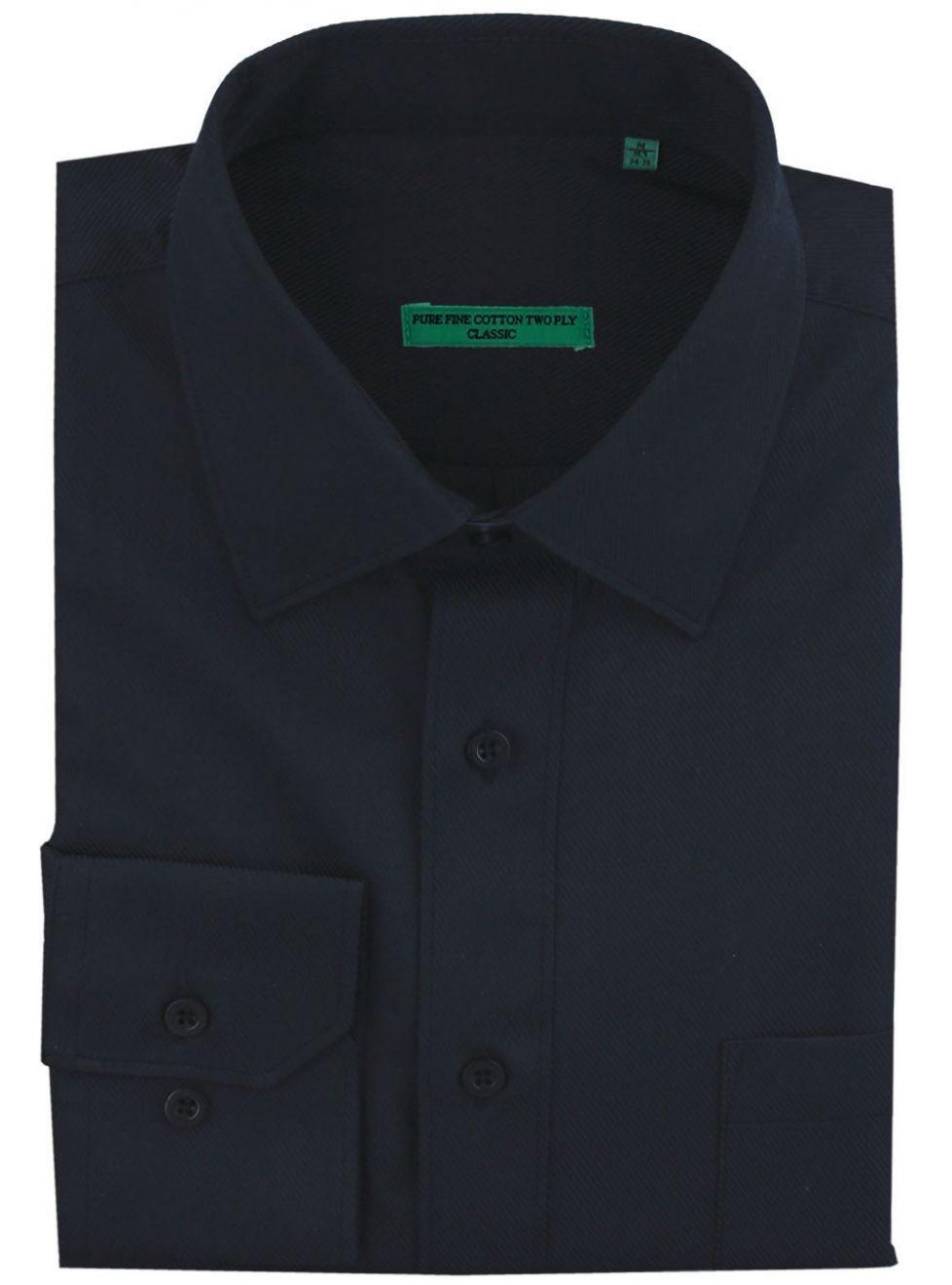 Pure Cotton Black Mens Shirts