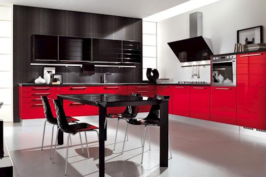 Black And Red Kitchen Designs and red kitchen design