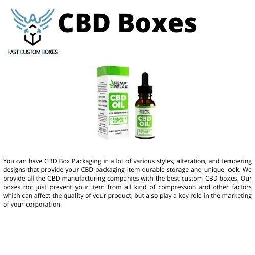 CBD Boxes Wholesale In USA