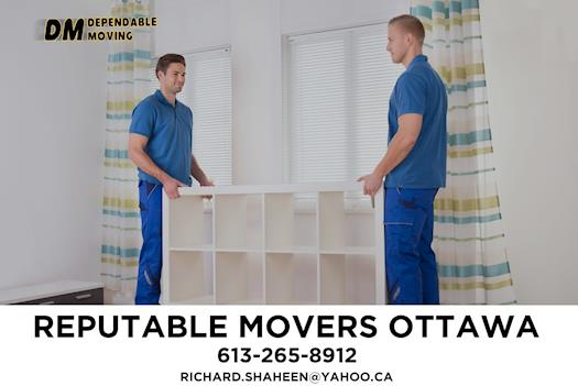 Reputable Movers in Ottawa