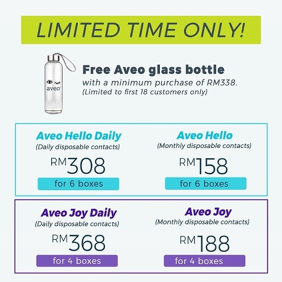 Limited Time Offer: Free Aveo Glass Bottle