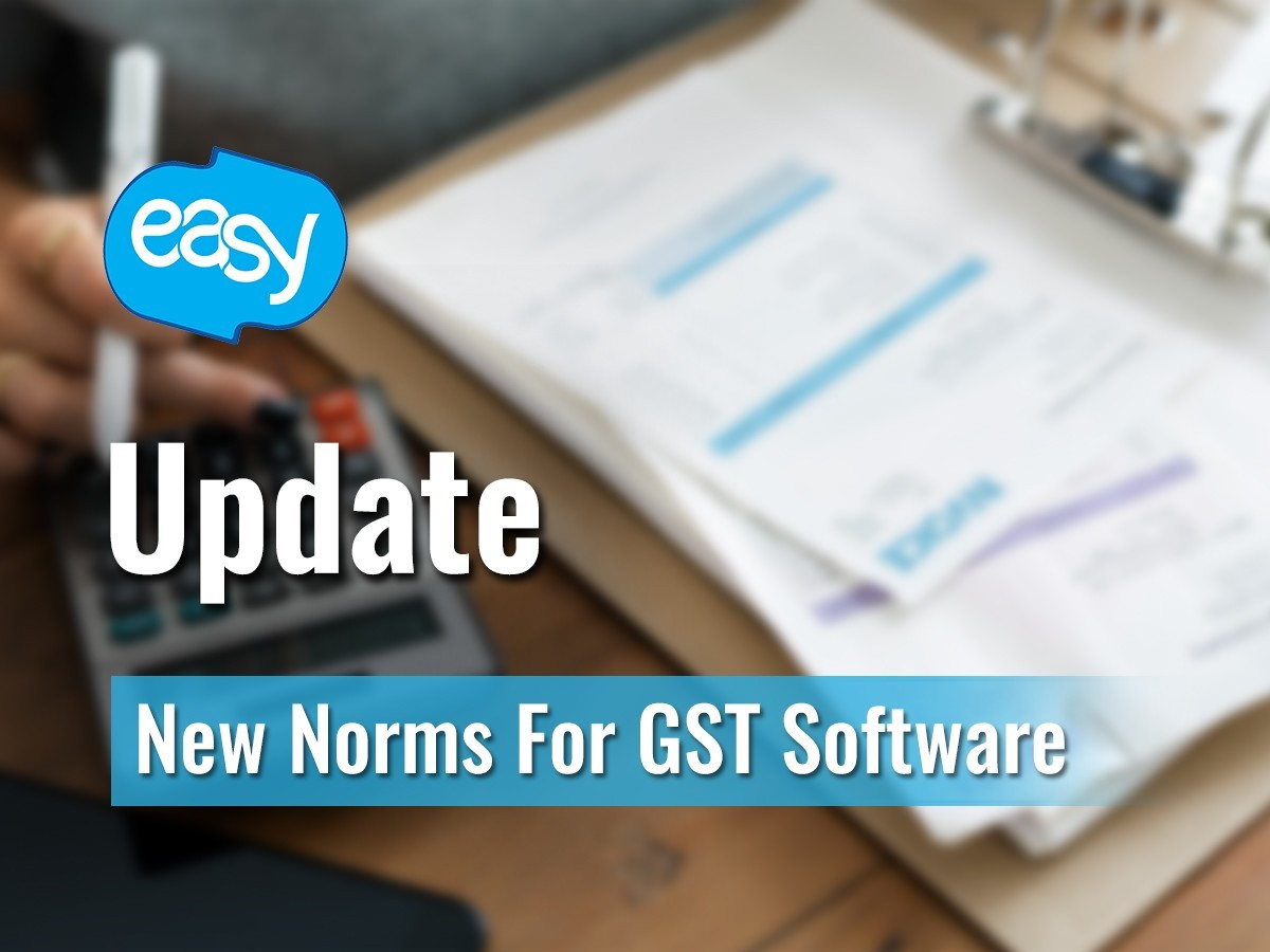 Update - New Norms for GST Software