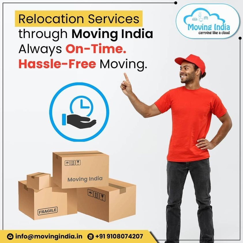 Relocation services through Moving India. Always On-time.