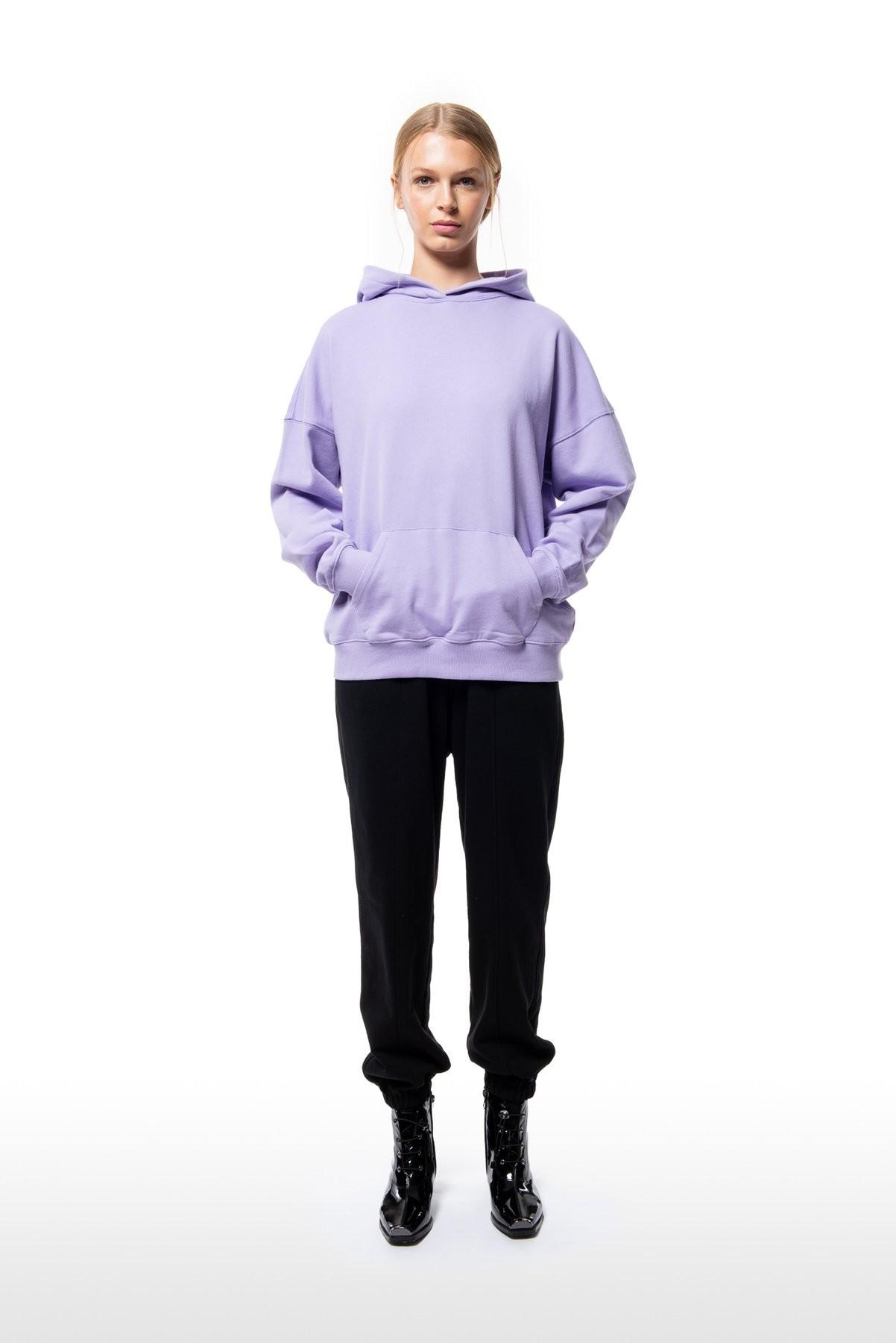 Purple Oversized Hoodie
