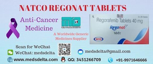 Regorafenib 40mg Online | Buy Regonat 40mg Tablets | Stivarga 40mg Price in India