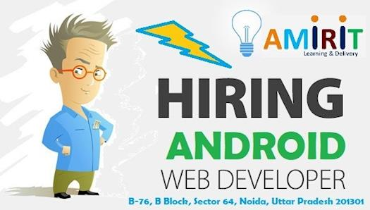 Opening for Experience Android Web Development
