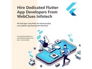 Hire Dedicated Flutter Developers - WebClues Infotech