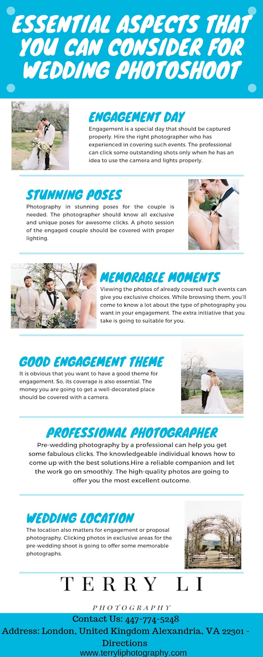 Essential Aspects That You Can Consider For Wedding Photoshoot