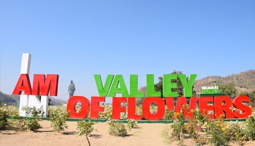 valley of flowers attractions at statue of unity
