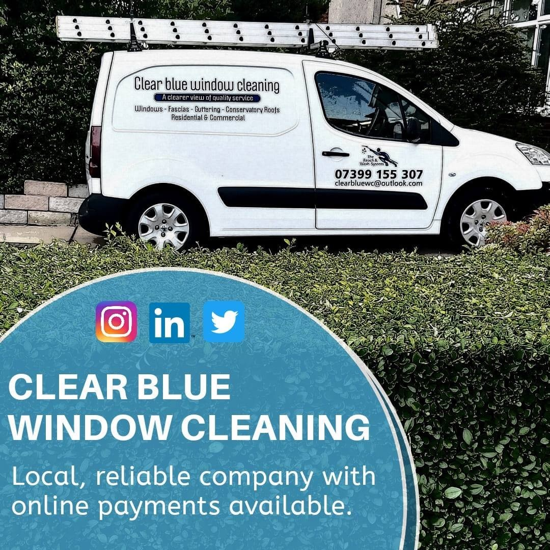 Clear blue window cleaning Sutton in Ashfield