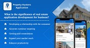 What is the significance of real estate application development for business?