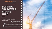 Meet all the industrial needs with luffing jib tower crane hire