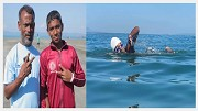 Youngest swimmer in the world.
