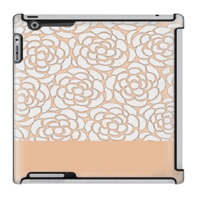 Uncommon LLC Peach Floral Lace Deflector Hard Case for iPad 2/3/4 (C0060-IV)