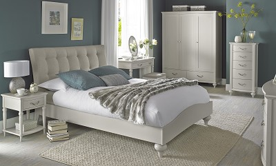 Bentley Designs Montreux Soft Grey Upholstered Bedstead