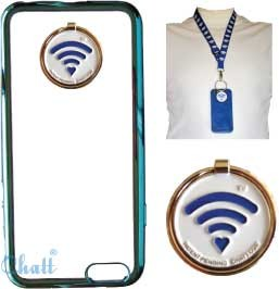 CUSTOM Apple iPhone 6 Neck Case with Adjustable Lanyard: Blue-Clear