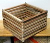 Buy Now Square Mahogany Orchid Basket@$7.00