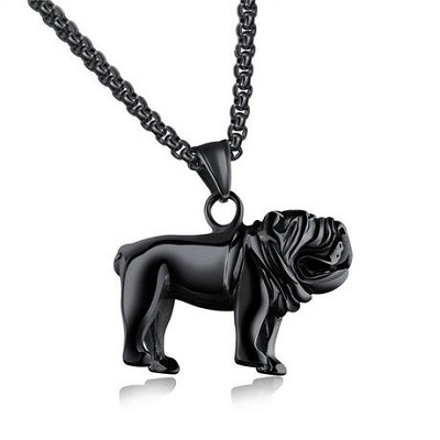 Bull Dog Stainless Steel Pendant