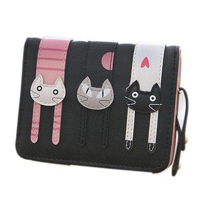 Trio Twinkle Kitties Wallet Available at Crazy Cat Shop with 70% Discount and Free Shipping