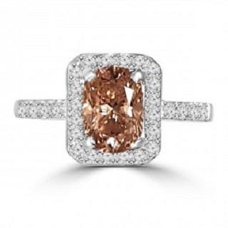 Brown diamond ring | Designer Engagement Ring